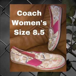 Coach Loafers | Size 8.5 | Women's | White/Pink
